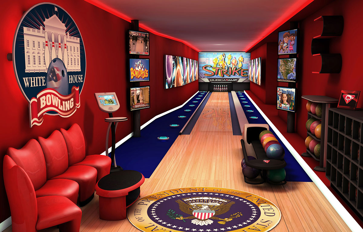 Inside the white house bowling alley for House plans with bowling alley