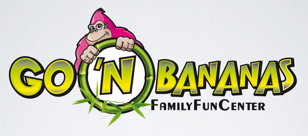 Go 'n Bananas family entertainment center branding logo design