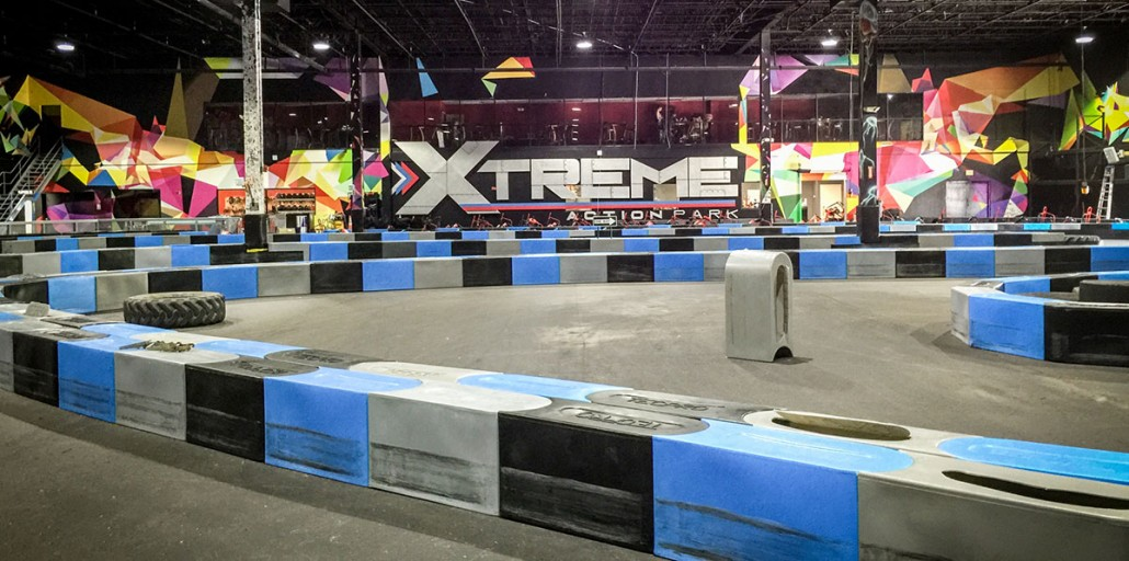 xtreme action park family entertainment center go kart track design