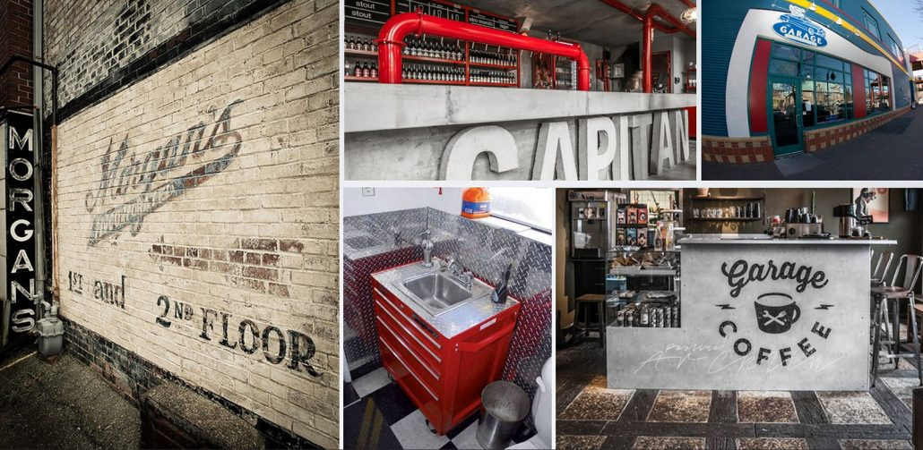 fun garage family entertainment center café moodboard