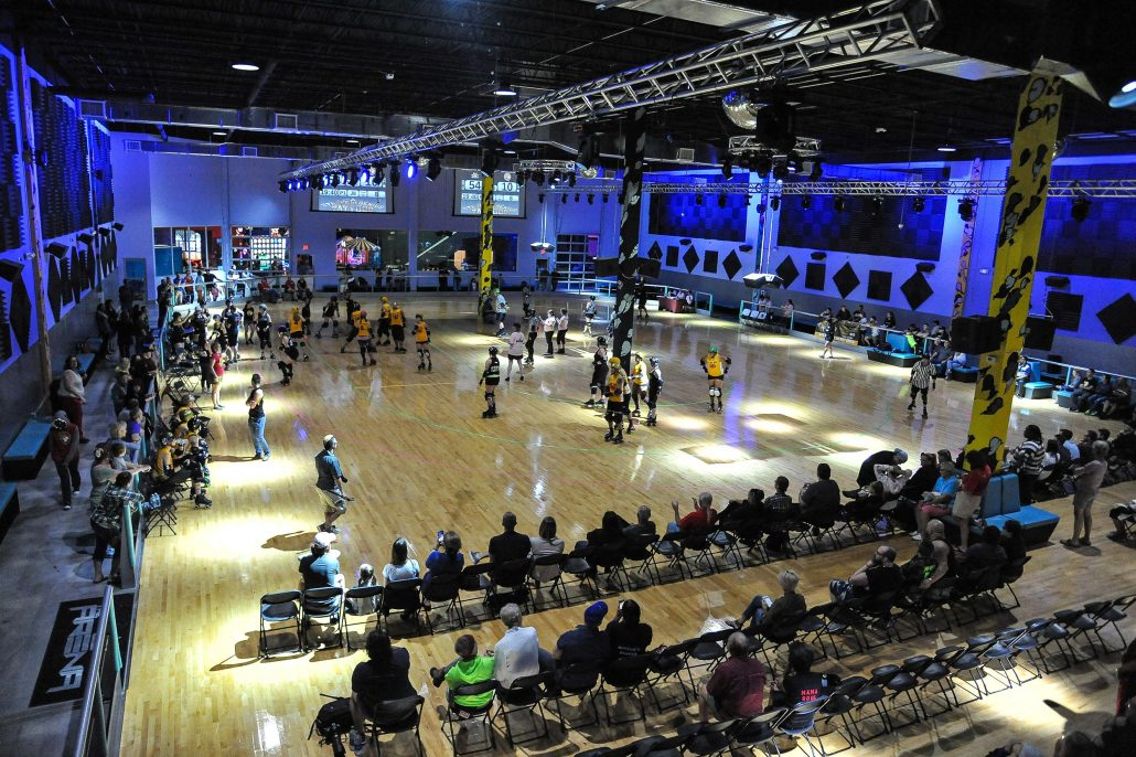xtreme action park roller skating rink The Arena hosting a derby event