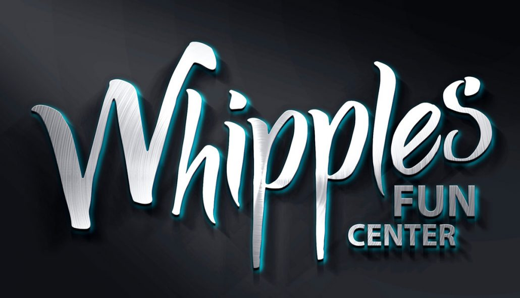 whipples family entertainment center logo design branding