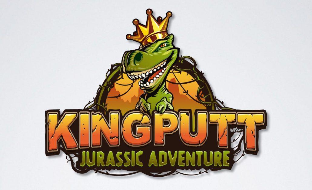 King Putt family entertainment center logo design jurassic adventure