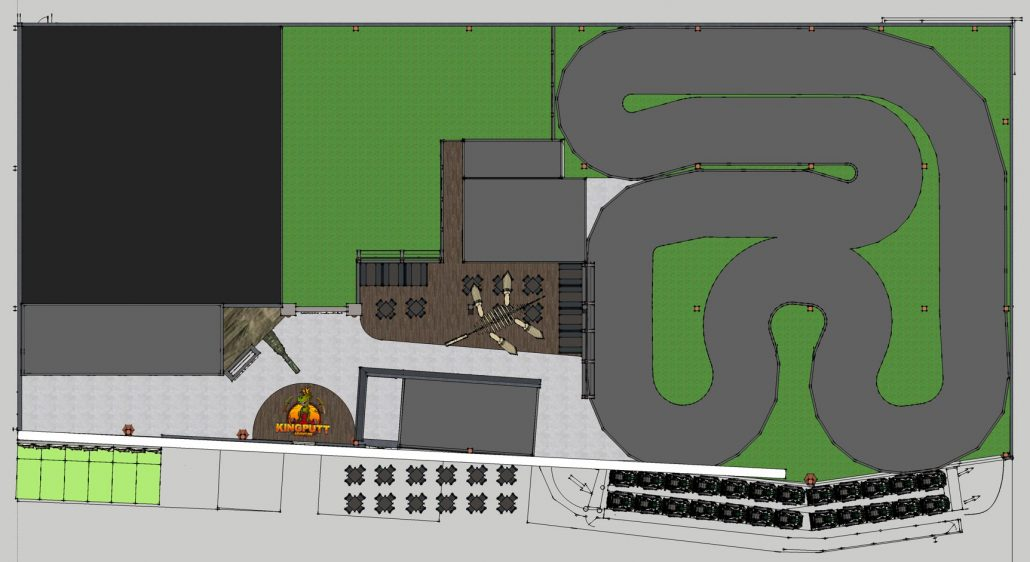 king putt family entertainment center CAD floor plan layout
