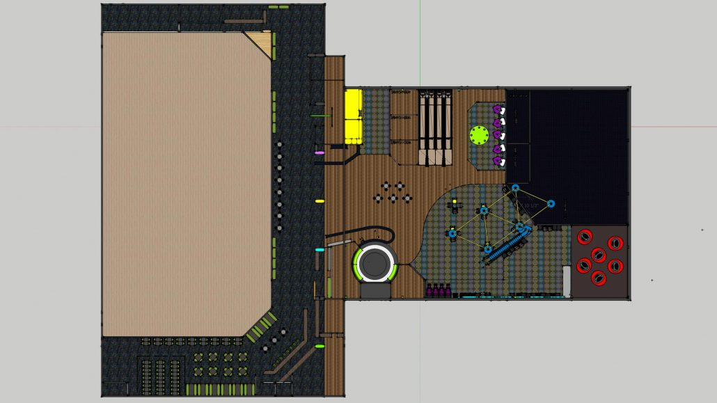 floor plan layout for The Place family entertainment center