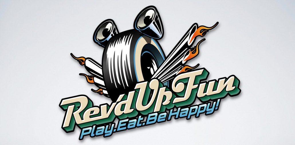 Rev'd Up Fun Family Entertainment Center branding logo design