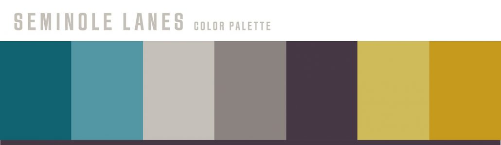 Seminole Lanes bowling center color palette concept design
