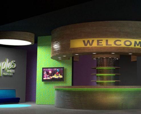 family entertainment center interior design