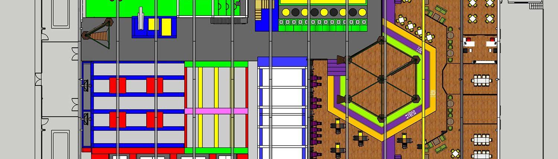 Trampoline park interior design