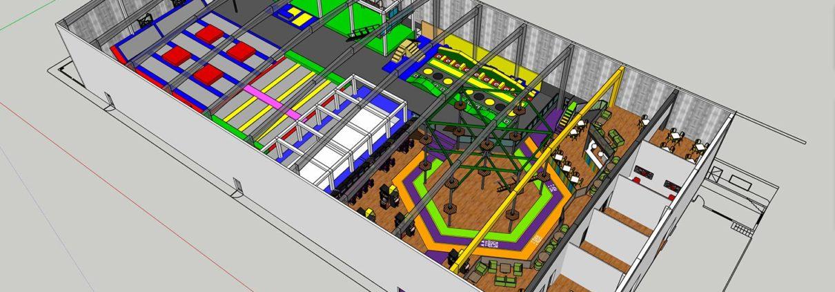 trampoline park master plan