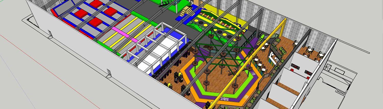 Trampoline park master planning